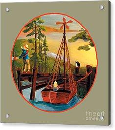 Super Boat Overlay Acrylic Print