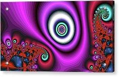 Super Hurricane Eye Magenta Acrylic Print