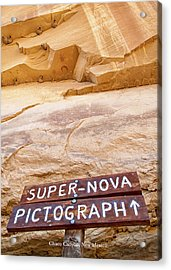 Supernova Pictograph Acrylic Print