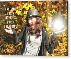 Superstar Quote Acrylic Print by JAMART Photography