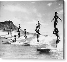 Surf Stunts Acrylic Print by Keystone