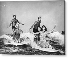 Surfers In California 1965 Acrylic Print