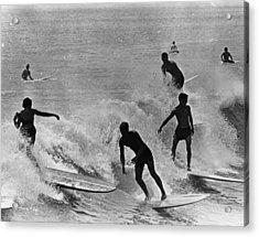 Surfing Derby Acrylic Print