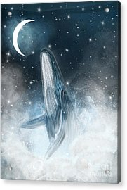 Surfing The Stars Acrylic Print