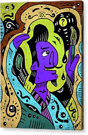 Acrylic Print featuring the digital art Surreal Painter by Sotuland Art