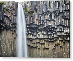 Acrylic Print featuring the photograph Svartifoss Portrait Iceland by Nathan Bush