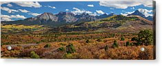 Acrylic Print featuring the photograph Sw Autumn Colorado Rocky Mountains Panoramic View Pt1 by James BO Insogna