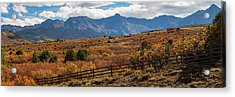 Acrylic Print featuring the photograph Sw Autumn Colorado Rocky Mountains Panoramic View Pt2 by James BO Insogna