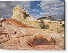 Sweeping Structures In Sandstone Acrylic Print