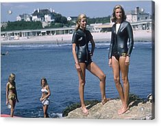 Swimmers At Newport Acrylic Print by Slim Aarons