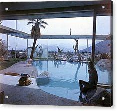 Swimming Pool At Raymond Loewy House Acrylic Print