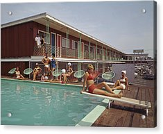Swimming Pool At The Mt. Royal Motel Acrylic Print