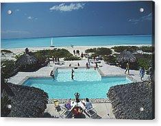 Swimming Pool On The Beach Acrylic Print