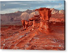 Swirls And Red Rock Acrylic Print