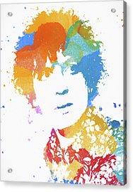 Syd Barrett Color Splatter Acrylic Print