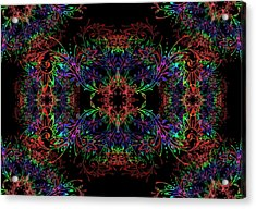 Acrylic Print featuring the digital art Synthetics by Vitaly Mishurovsky