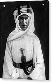 T E Lawrence Acrylic Print by Hulton Archive