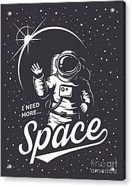 T-shirt Design Print. Space Theme Acrylic Print