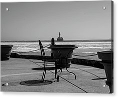 Table For One Bw Acrylic Print