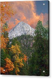 Tahquitz Peak - Lily Rock Painted Version Acrylic Print