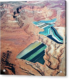 Tailings Ponds Acrylic Print by Fuse