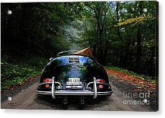 'taking The Scenic Road Way To Get Home.' 1958 Porsche 356a, 1600 Speedster Acrylic Print