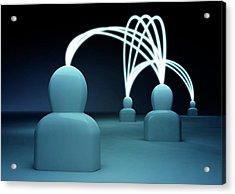 Talking Heads - Blue3 Acrylic Print by Mmdi