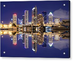 Tampa Bay Skyline Acrylic Print by Sean Pavone
