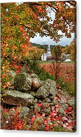 Acrylic Print featuring the photograph Tamworth Congregational Church - Tamworth, Nh by Joann Vitali
