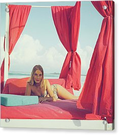 Tania Mallet Acrylic Print by Slim Aarons