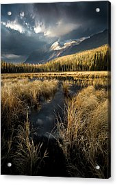 Acrylic Print featuring the photograph Tapering Rains / Whitefish, Montana  by Nicholas Parker