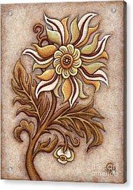 Tapestry Flower 1 Acrylic Print