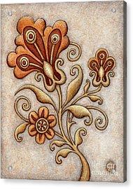 Tapestry Flower 3 Acrylic Print