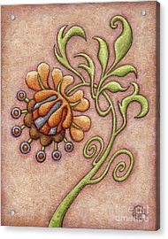 Tapestry Flower 10 Acrylic Print