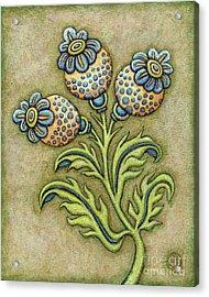 Tapestry Flower 6 Acrylic Print