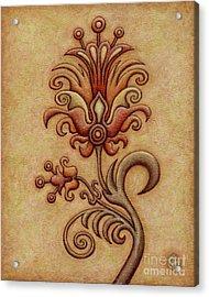 Tapestry Flower 7 Acrylic Print