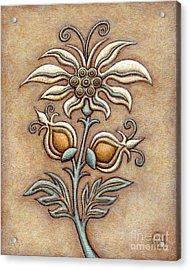 Tapestry Flower 9 Acrylic Print