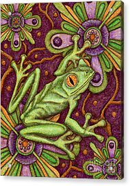 Tapestry Frog Acrylic Print