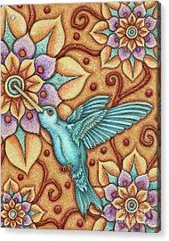 Tapestry Hummingbird Acrylic Print
