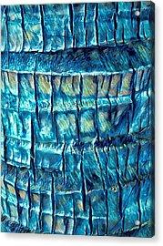 Teal Palm Bark Acrylic Print