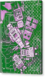 Tech Borg Centre Acrylic Print