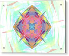 Acrylic Print featuring the digital art Techno Fantasy by Vitaly Mishurovsky