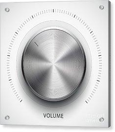 Technology Music Button Volume Acrylic Print