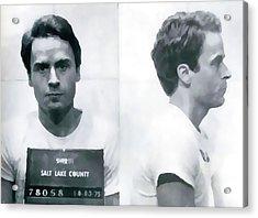 Ted Bundy Mug Shot Acrylic Print