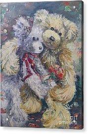 Teddy Bear Honeymooon Acrylic Print