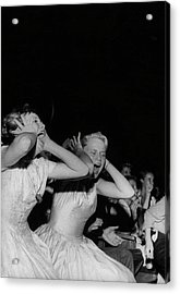 Teenagers Screaming And Yelling During Acrylic Print