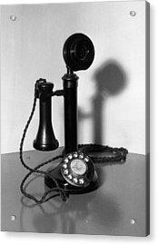Telephone Acrylic Print by Fox Photos