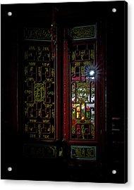 Temple Doorway On Old West Street Acrylic Print
