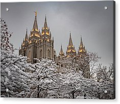 Temple In The Snow Acrylic Print