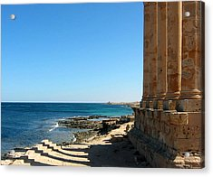 Temple Of Isis, Sabratha, Libya Acrylic Print by Joe & Clair Carnegie / Libyan Soup